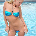 Blonde Babe Lacey Looks Great In A Bikini