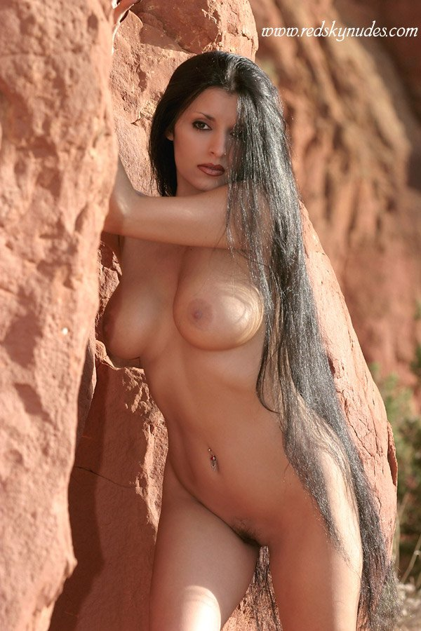 Long hair nude black beautiful