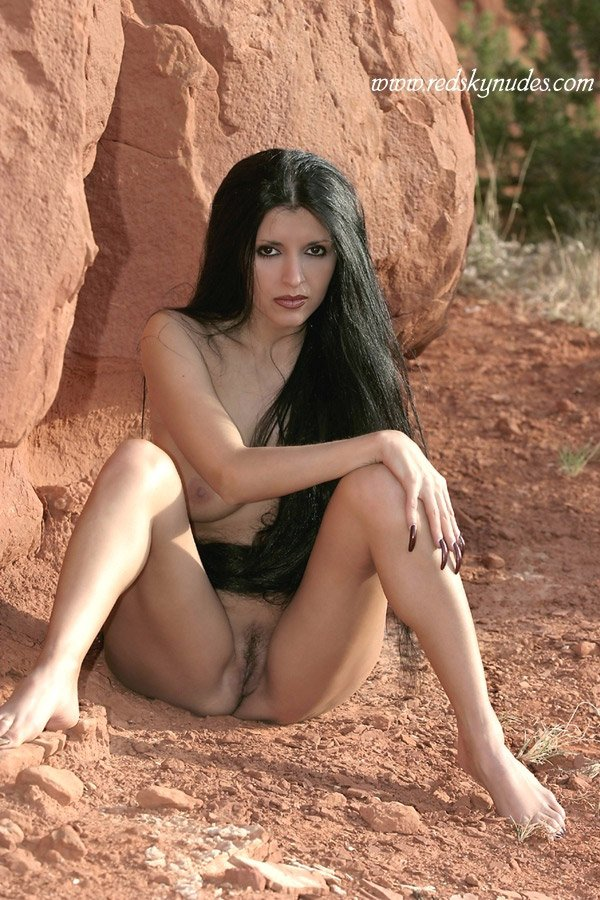 Long Black Hair Naked Woman 116