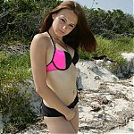 Teen Tabitha On The Beach In Bikini