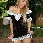 Blonde Latin French Maid