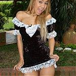 Blonde Latin French Maid