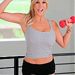 Hot Bodied Blonde Working Out