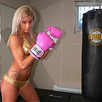 Hawt Amateur Blonde Fight Training