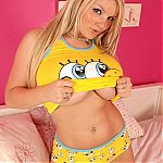 Spongebob PJs On Big Boob Girl