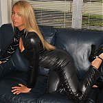 Sexy Brooke Marks In A Leather Catsuit