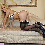Gorgeous Blonde Hillary In Stockings