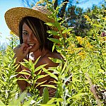 Nikki Sims Naked In A Meadow