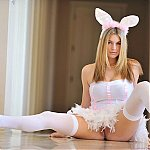 Super Cute Busty Blonde Bunny