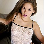 Sultry Brunette Hottie Wearing Mesh